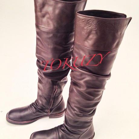 TOKUZY メンズニーハイブーツ Dark Brown S size(25〜26cm)