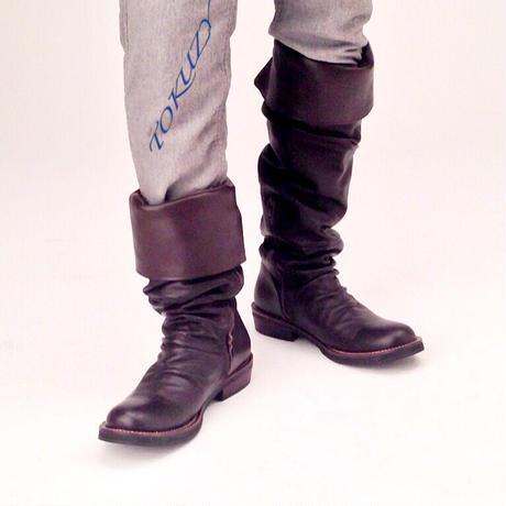 TOKUZY メンズニーハイブーツ Dark Brown M size(26.5〜27cm)