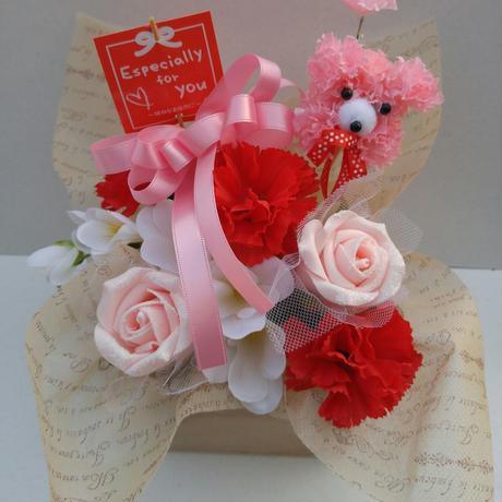 母の日ミニプードル造花アレンジメント
