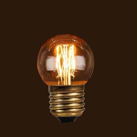 "Edison Bulb ""Baby Ball (SQUIRREL CAGE)/ 50mm / 40W / E26″"
