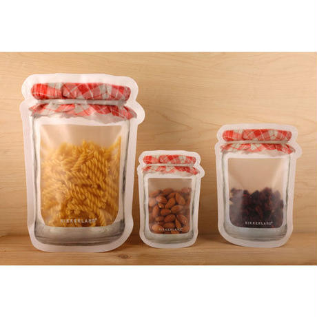 "Jam Jar Zipper Bags ""S set of 4"""