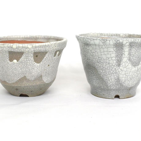 Shigaraki Pot -白マット中深4号-
