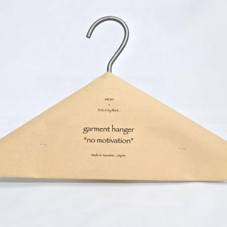 """garment hanger """"no motivation"""" double"""