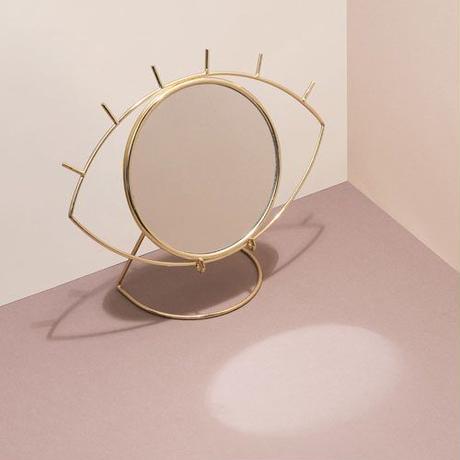 """Cyclops Table Mirror """"Gold"""""""