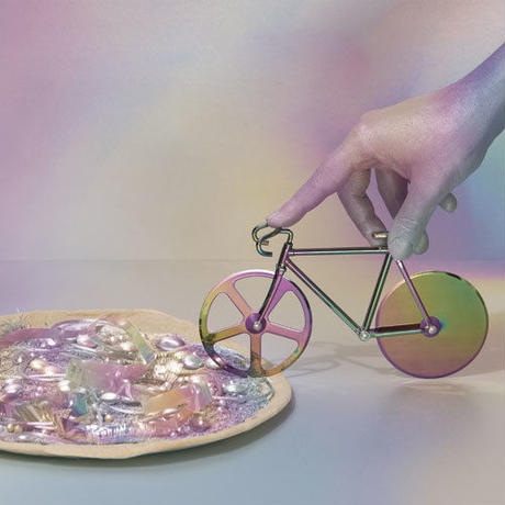 "Fixie Pizza Cutter ""Iridescent"""