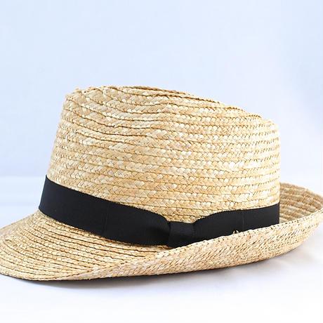 麦わら帽子 中折れハット