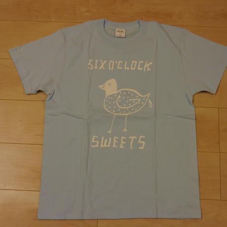 "SIX O'CLOCK SWEETS ""POOP"" Tshirt /Light Blue"