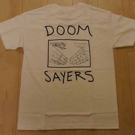 "DOOM SAYERS ""SNAKE SHAKE"" S/S-POCKET Tシャツ (WHITE)/M"