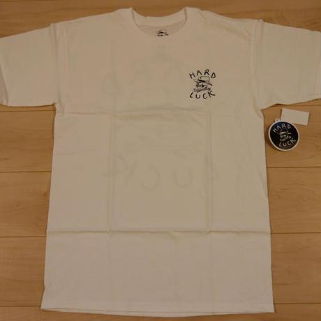 """HARD LUCK """"O.G.LOGO"""" S/S Tシャツ (WHITE)"""