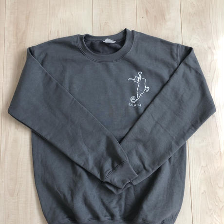 "tochka ""pigmy sea horce""crew neck""charcoal"