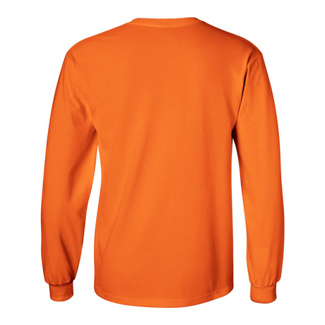 EMBROIDERY LOGO L/S TEE - Fluorescent Orange