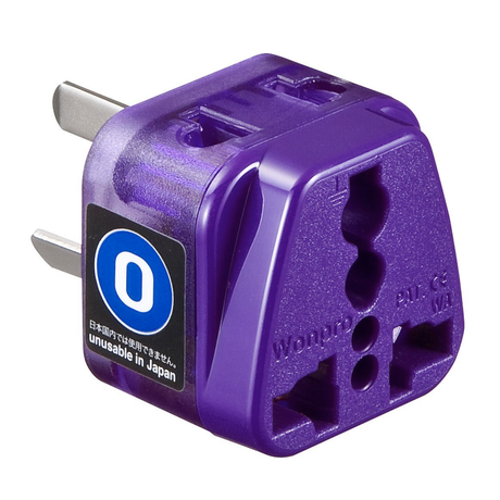 Power plug shape conversion adapter for Australia (Type-O) SANWA SUPPLY