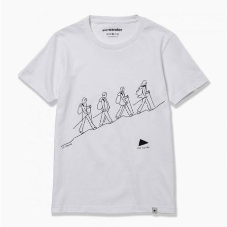 andwander/quarted printed T by Yu nagaba
