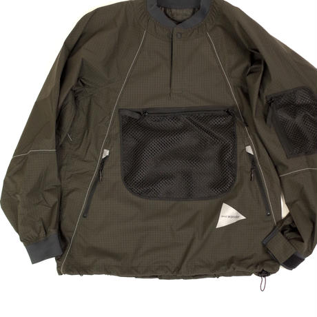 and wander/Breath rip pullover jacket