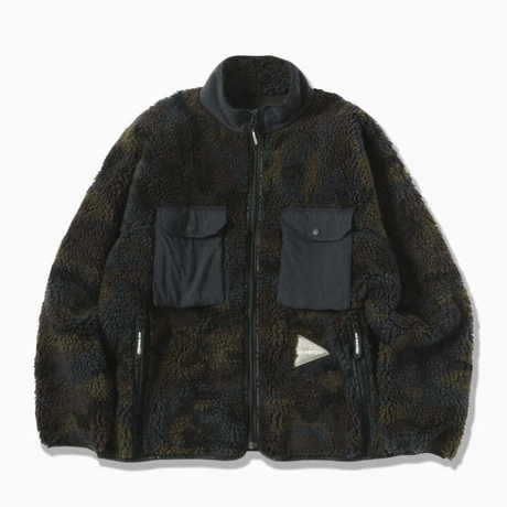 and wander /jacquard boa jacket
