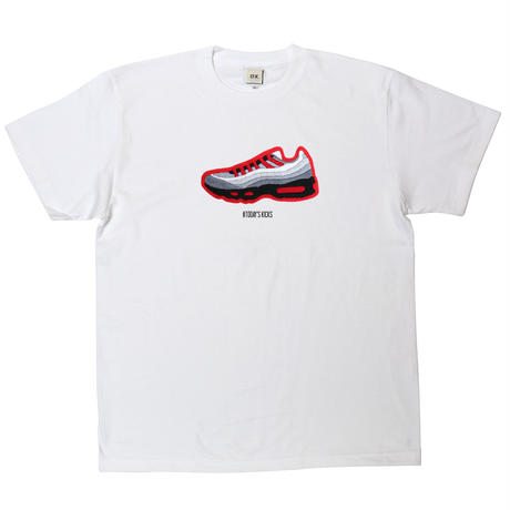 【O.K.】max'95RED-T for TODAY'S KICKS/WHITE
