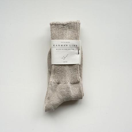 NORMA 23-25 定規座の靴下/linen