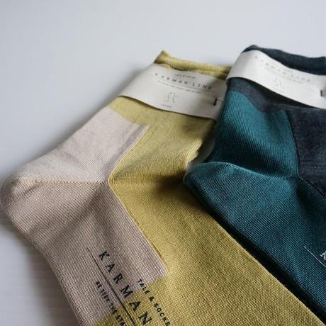踵つま先  配色ソックス/GEMINI wool