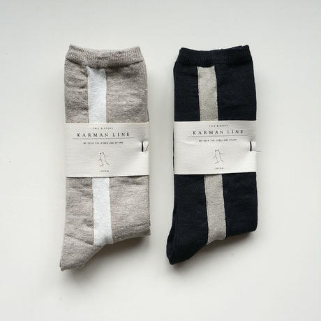 GEMINI 23-25 双子座の靴下/linen
