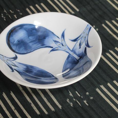 痴陶人(伊万里陶苑)染付茄子絵平鉢