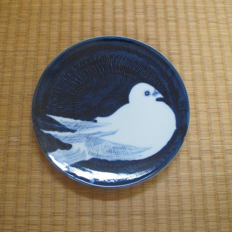 鶴太郎 鳩絵皿