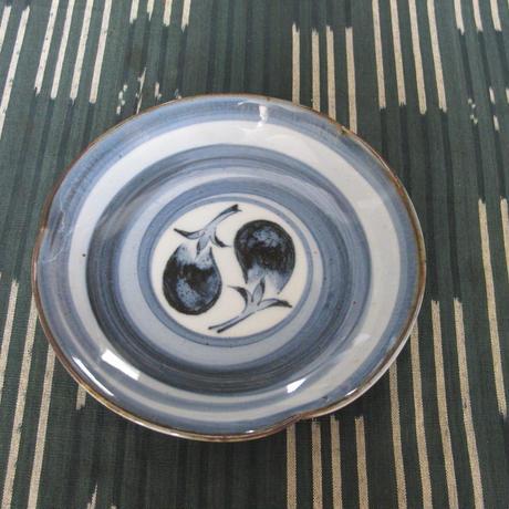 伊万里陶苑 染付茄子皿