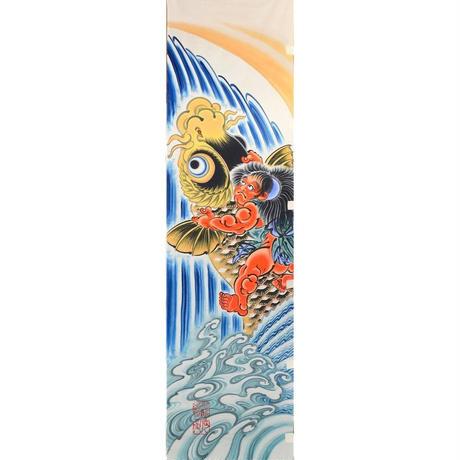 いわき絵のぼり 屋外絵幟『鯉に金太郎』4.5m×0.7m