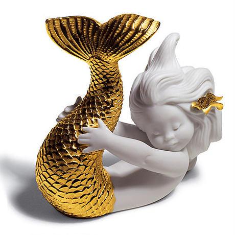 可愛いマーメイド Golden Re-Deco(H10×W12×D5cm)