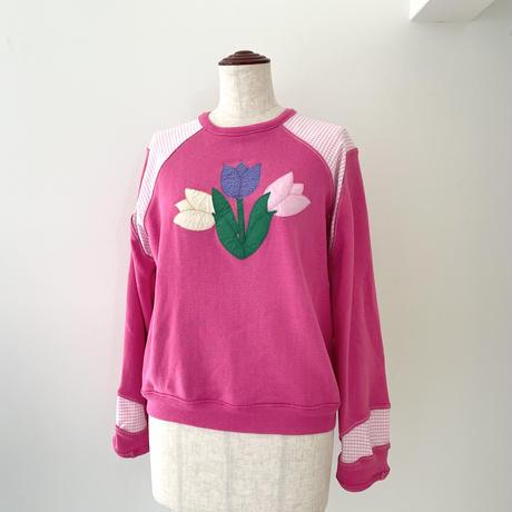 pink flower sweat