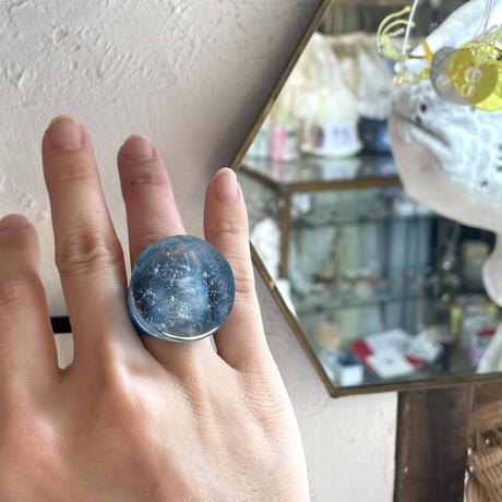 SIGN  glass  ring