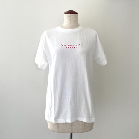 梨凛花 uncler scentlogo T-shirt  White×pink
