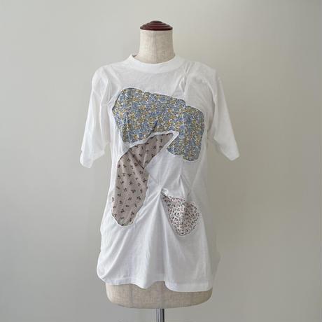 White Cutoff  Tuck T-Shirt