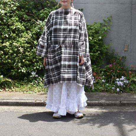 nusumigui  Large plaid pullover