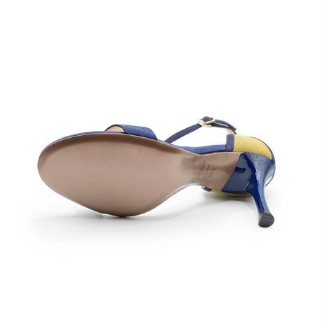 カラーパネルネックストラップサンダル/Color panel neck strap sandals L0219 (NAVY)