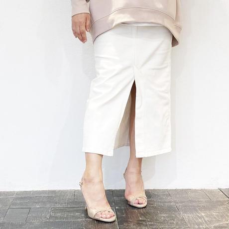 クリアバイアスデザインヒールサンダル/Clear bias design heel sandals L0220 (BEIGE)
