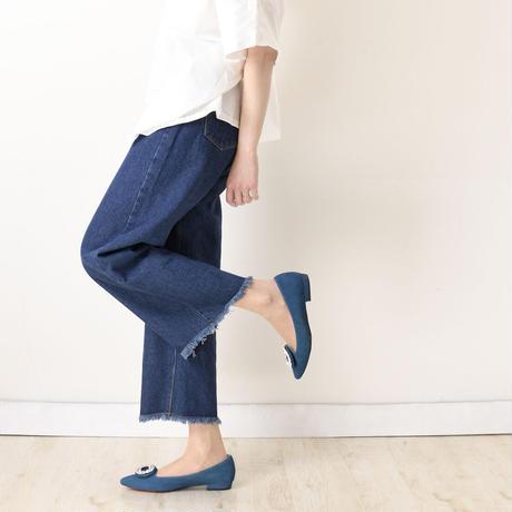 ビジューバックルフラットシューズ / Bijou buckle flat shoes L0223(BLUE/S)