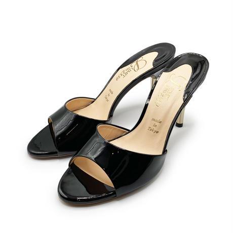スパイクヒールミュールサンダル/Spike heel mule sandals L0217(BLACK/E)