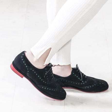 ウイングチップレースアップシューズ / Wing Tip Lace-Up Shoes L0168 (BLACK/S)