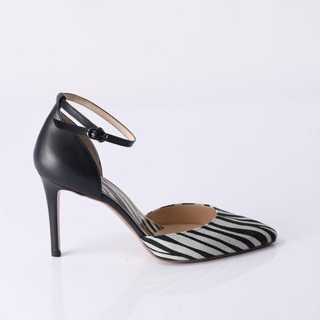 セパレーツストラップヒールパンプス / Separates strap heel pumps L0215 (ZEBRA)