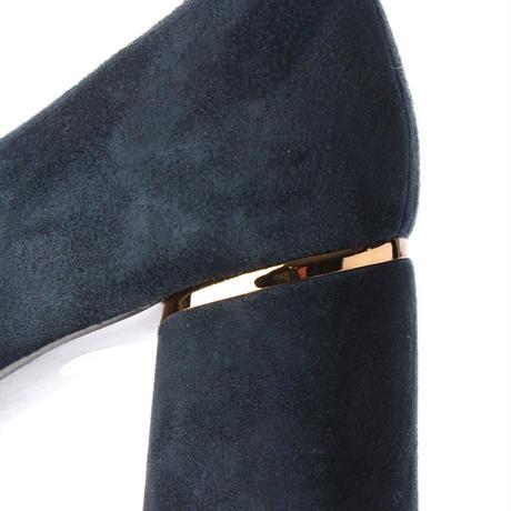 スクエアチャンキーヒールパンプス/ Square Chunky Heel Pumps L0202(NAVY)