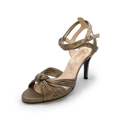ノットデザインヒールトラップサンダル / Knot design heel trap sandals L0177(BRONZE)