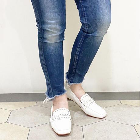 スタッズローファーシューズ / Studs Loafers Shoes L0206 (WHITE)