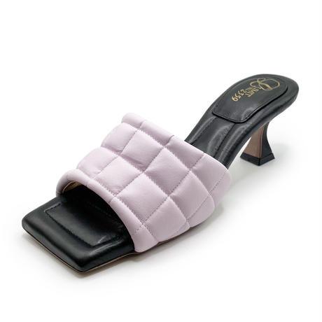 スクエアトゥキルティングミュールサンダル/Square to quilted mule sandals L0227(LAVENDER)