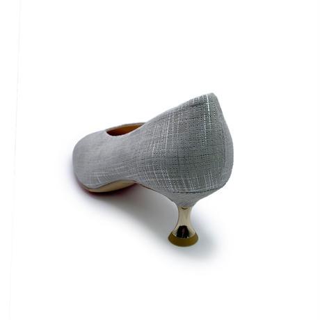 ソフトスクエアレトロヒールパンプス/Soft Square Retro Heel Pumps L0225 (SILVER)