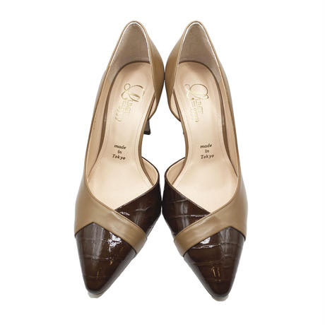 ポインテッドトゥセパレートヒールパンプス/Pointed to separate heel pumps L0224(MOCA/C)