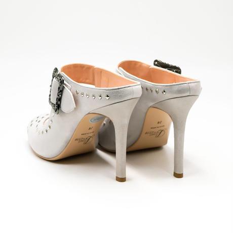 オープントゥスタッズドミュール  / Open toe studded mules L0180(IVORY)