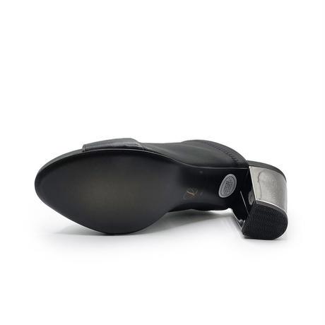 チャンキーヒールディープミュール/Chunky heel deep mules L0228(BLACK)