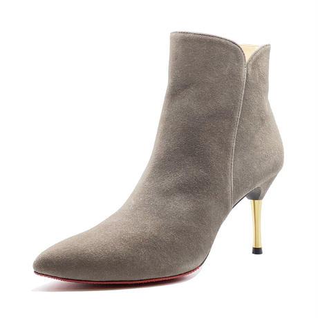 オールウェザーポインテッドカットワークスパイクヒールショートブーツ/All Weather Pointed Cutwork Spike Heel Short Boots L0229(D.GRAY)