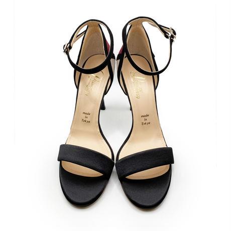 カラーパネルネックストラップサンダル/Color panel neck strap sandals L0219 (BLACK)