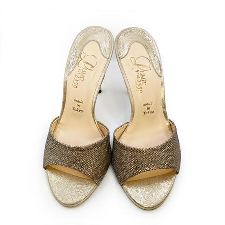 スパイクヒールミュールサンダル/Spike heel mule sandals L0217(L.GOLD)